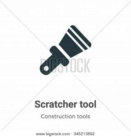 Scratcher Tool Vector Icon On White Background. Flat Vector Scratcher Tool Icon Symbol Sign From Mod