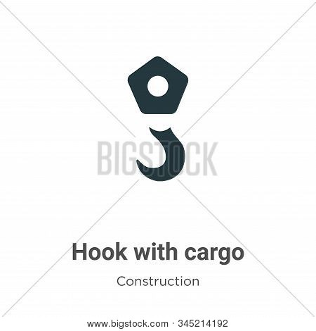 Hook with cargo icon isolated on white background from construction collection. Hook with cargo icon