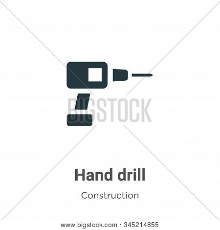 Hand drill icon isolated on white background from tools collection. Hand drill icon trendy and moder