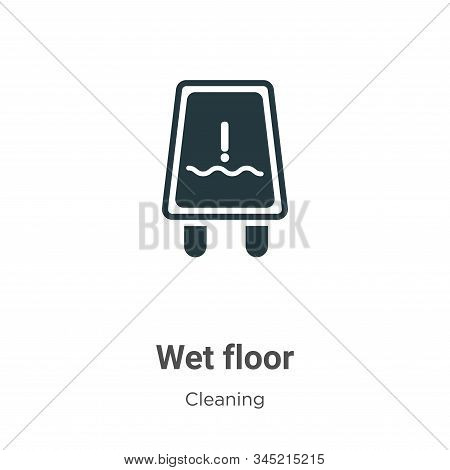 Wet floor icon isolated on white background from cleaning collection. Wet floor icon trendy and mode