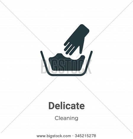 Delicate icon isolated on white background from cleaning collection. Delicate icon trendy and modern