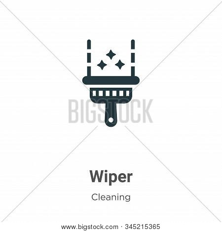 Wiper icon isolated on white background from cleaning collection. Wiper icon trendy and modern Wiper
