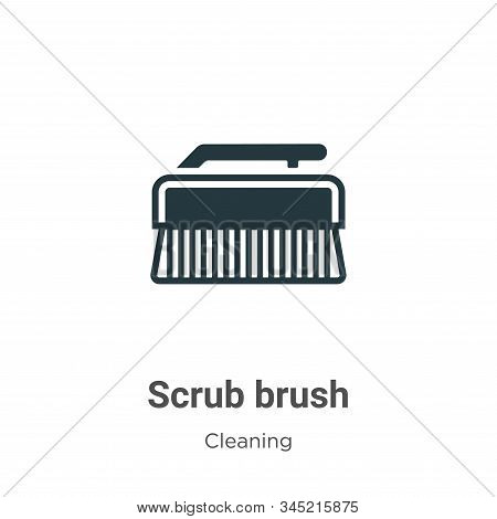 Scrub brush icon isolated on white background from cleaning collection. Scrub brush icon trendy and