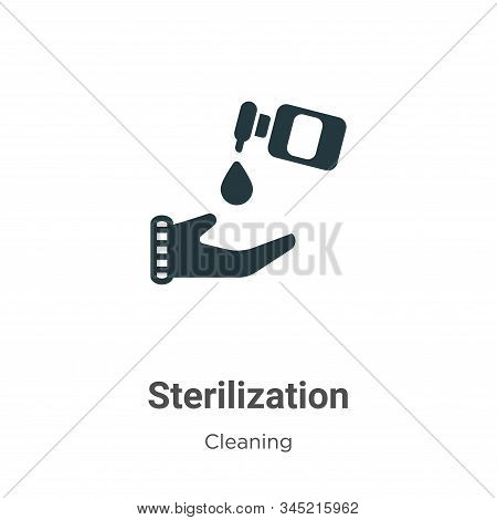 Sterilization icon isolated on white background from cleaning collection. Sterilization icon trendy