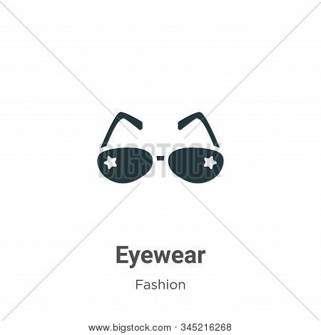 Eyewear Vector Icon On White Background. Flat Vector Eyewear Icon Symbol Sign From Modern Fashion Co