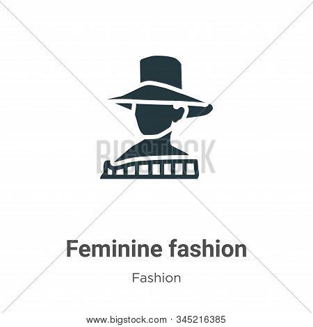 Feminine fashion icon isolated on white background from fashion collection. Feminine fashion icon tr