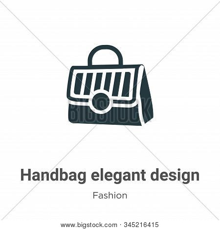 Handbag elegant design icon isolated on white background from fashion collection. Handbag elegant de