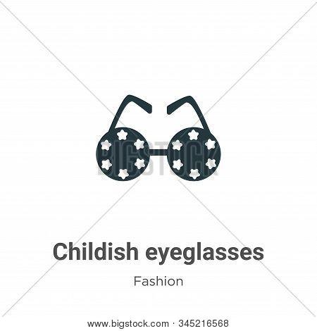 Childish eyeglasses icon isolated on white background from fashion collection. Childish eyeglasses i
