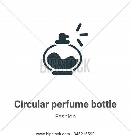 Circular perfume bottle icon isolated on white background from fashion collection. Circular perfume