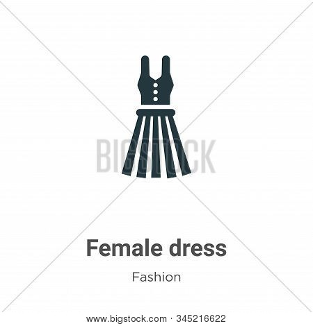 Female dress icon isolated on white background from fashion collection. Female dress icon trendy and