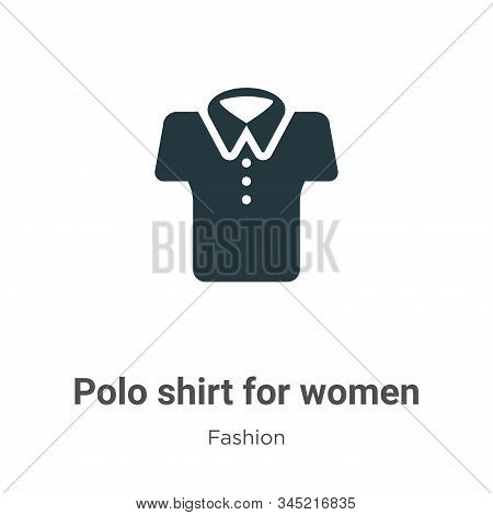 Polo shirt for women icon isolated on white background from fashion collection. Polo shirt for women