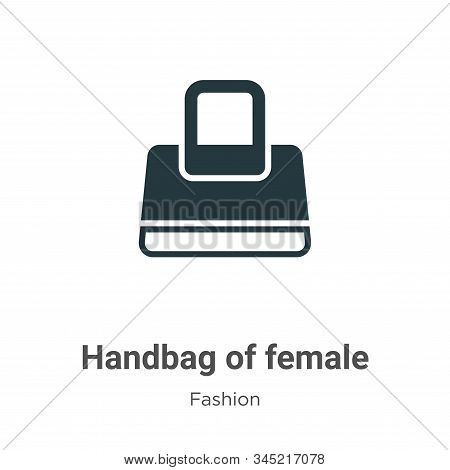 Handbag of female icon isolated on white background from fashion collection. Handbag of female icon