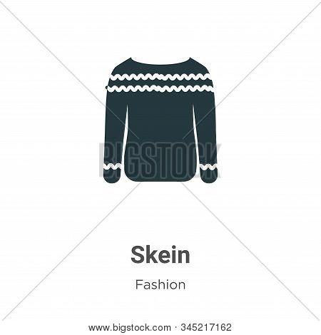 Skein icon isolated on white background from fashion collection. Skein icon trendy and modern Skein