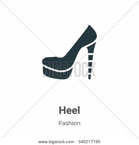 Heel icon isolated on white background from fashion collection. Heel icon trendy and modern Heel sym