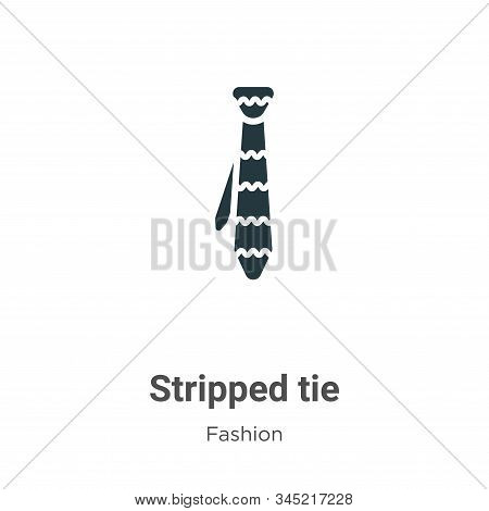 Stripped tie icon isolated on white background from fashion collection. Stripped tie icon trendy and