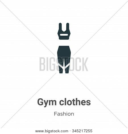 Gym clothes icon isolated on white background from fashion collection. Gym clothes icon trendy and m
