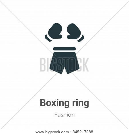 Boxing ring icon isolated on white background from fashion collection. Boxing ring icon trendy and m