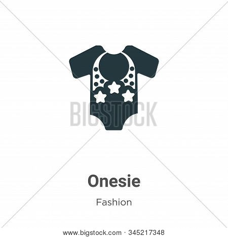 Onesie Vector Icon On White Background. Flat Vector Onesie Icon Symbol Sign From Modern Fashion Coll
