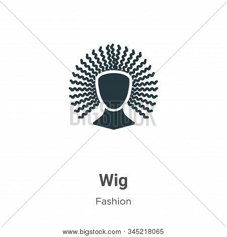 Wig icon isolated on white background from fashion collection. Wig icon trendy and modern Wig symbol