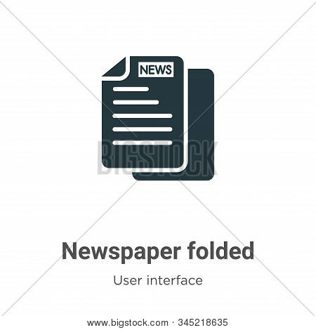 Newspaper folded icon isolated on white background from user interface collection. Newspaper folded