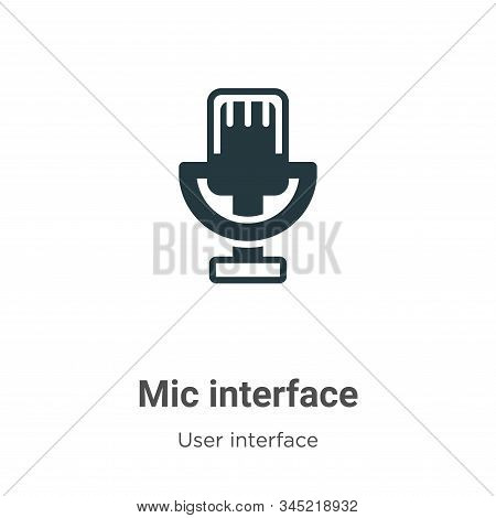 Mic interface icon isolated on white background from user interface collection. Mic interface icon t