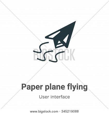 Paper plane flying icon isolated on white background from user interface collection. Paper plane fly