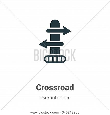 Crossroad icon isolated on white background from user interface collection. Crossroad icon trendy an