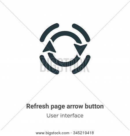 Refresh page arrow button icon isolated on white background from user interface collection. Refresh