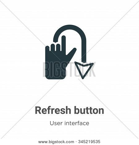 Refresh button icon isolated on white background from user interface collection. Refresh button icon