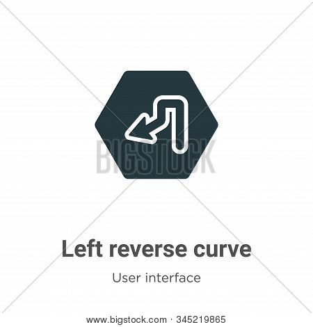 Left reverse curve icon isolated on white background from user interface collection. Left reverse cu