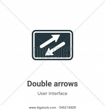 Double arrows icon isolated on white background from user interface collection. Double arrows icon t