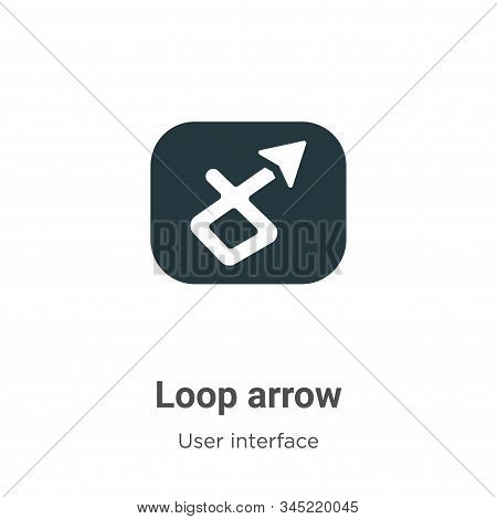 Loop Arrow Vector Icon On White Background. Flat Vector Loop Arrow Icon Symbol Sign From Modern User