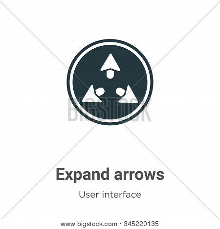 Expand arrows icon isolated on white background from user interface collection. Expand arrows icon t