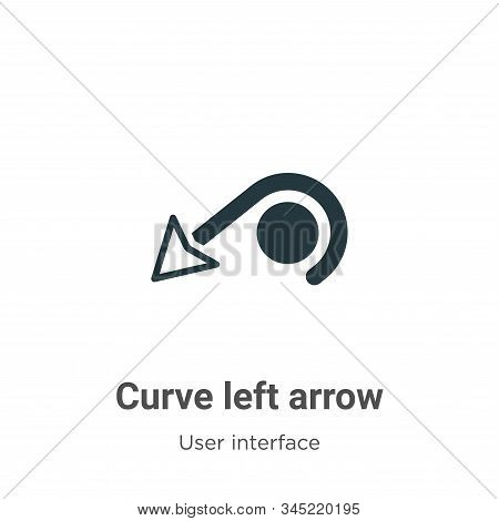 Curve left arrow icon isolated on white background from user interface collection. Curve left arrow