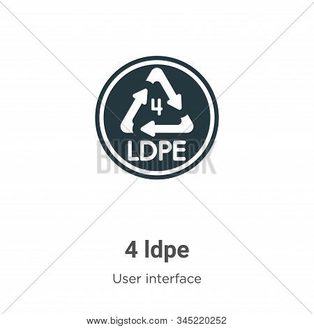 4 ldpe icon isolated on white background from user interface collection. 4 ldpe icon trendy and mode