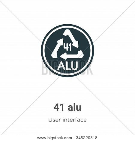 41 alu icon isolated on white background from user interface collection. 41 alu icon trendy and mode