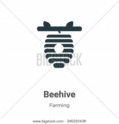 Beehive icon isolated on white background from farming collection. Beehive icon trendy and modern Be