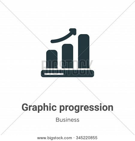 Graphic progression icon isolated on white background from business collection. Graphic progression