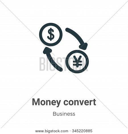 Money Convert Vector Icon On White Background. Flat Vector Money Convert Icon Symbol Sign From Moder