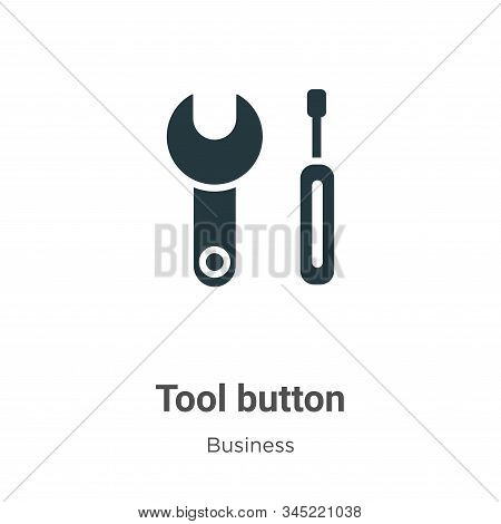 Tool button icon isolated on white background from business collection. Tool button icon trendy and