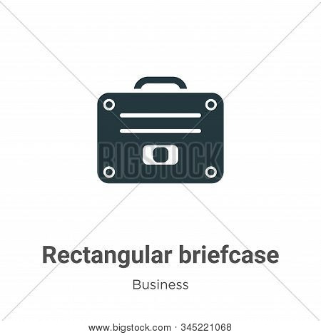 Rectangular briefcase icon isolated on white background from business collection. Rectangular briefc