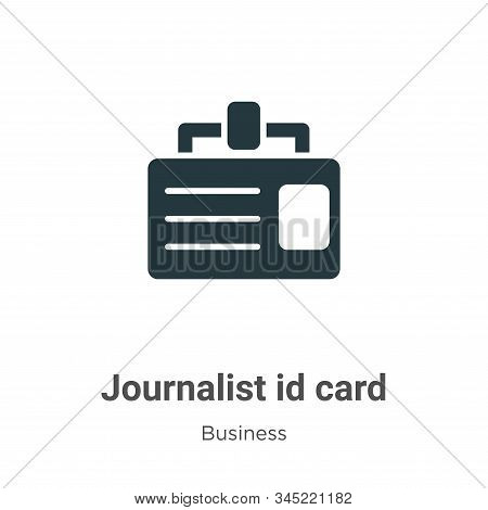 Journalist id card icon isolated on white background from business collection. Journalist id card ic