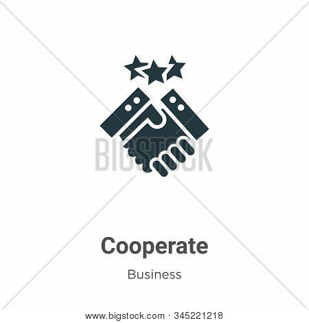 Cooperate Vector Icon On White Background. Flat Vector Cooperate Icon Symbol Sign From Modern Busine