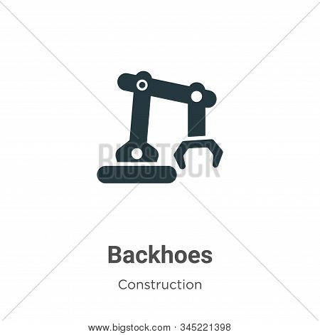 Backhoes icon isolated on white background from construction collection. Backhoes icon trendy and mo