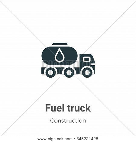 Fuel truck icon isolated on white background from construction collection. Fuel truck icon trendy an