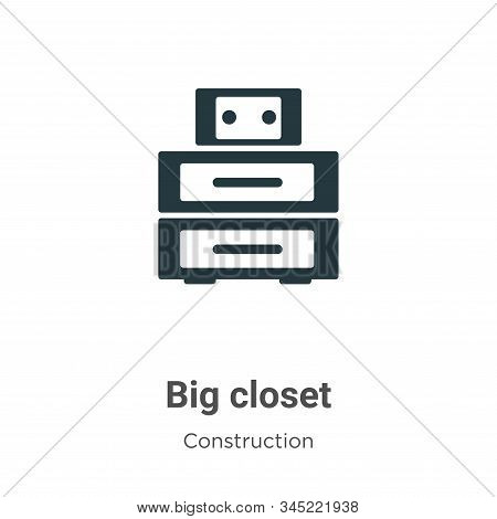 Big Closet Vector Icon On White Background. Flat Vector Big Closet Icon Symbol Sign From Modern Cons