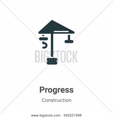 Progress icon isolated on white background from construction collection. Progress icon trendy and mo