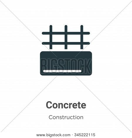 Concrete icon isolated on white background from construction collection. Concrete icon trendy and mo