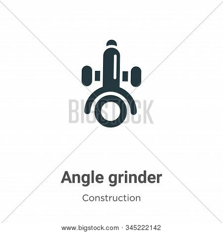 Angle grinder icon isolated on white background from construction collection. Angle grinder icon tre