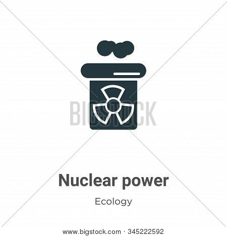 Nuclear power icon isolated on white background from ecology collection. Nuclear power icon trendy a